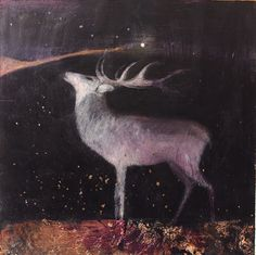 The Stag ~ artist Catherine Hyde #art #painting #mytumblr