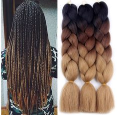 63 stunning examples of brown ombre hair - Hairstyles Trends Brown Box Braids, Ombre Box Braids, Colored Box Braids, Short Box Braids, Blonde Box Braids, Braids For Black Hair, Box Braids Hairstyles, Braided Hairstyles For Black Women, Brown Ombre Hair