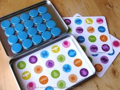 "memory match - magnetic game tin - ""DisneyFiy"" & add tic tac toe option"