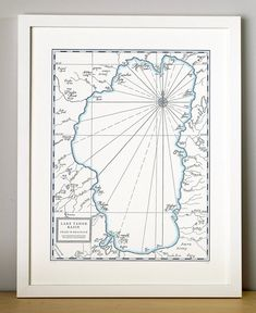 O Lake Tahoe! All the letterpress maps from Quail Lane Press are hand drawn. The drawings are created into relief plates which are then used to