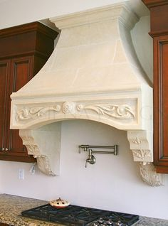 Parsiena Design Inc. offers designer custom kitchen hoods to make the most popular room in your house sparkle and attract attention! Simply the best decorative stone kitchen hoods in Toronto and GTA! Kitchen Hoods, Stone Kitchen, Range Hoods, Gta, Toronto, Room, House, Furniture, Design