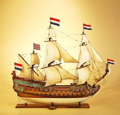 Museum Quality Wooden Historic Sailing Ship Model of the De Zeven Provincien for sale. Custom built by the replica scale Model Ship Builders, STEPHENS & KENAU™ Scale Model Ships, Scale Models, Anglo Dutch Wars, Mercedes Stern, Old Sailing Ships, Museum, Wooden Ship, Pirate Life, Tall Ships