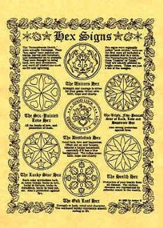 Dutch Hex Signs and Their Meanings | A4 Hex signs poster - Mother Of The Moon