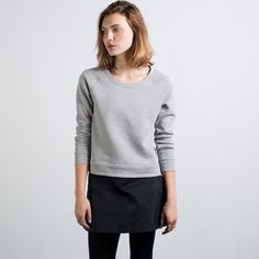 The Raglan Boat Neck Heather Grey - made in the USA