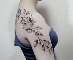 leaves tattoo design0171