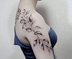 leaves tattoo design0171