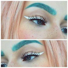 white liquid eyeliner - Google Search
