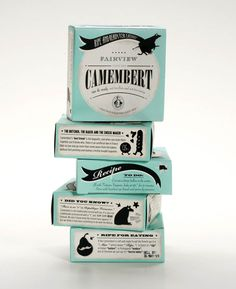 Fairview Cheese Packaging by Coley Porter Bell. Not sure what's going on here, but I like it.