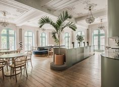 """Sella Concept creates """"grown-up"""" interiors inside London co-working space Public Hall Westminster, Coworking Space, Teal Coloured Wallpaper, Design Ppt, Best Office, Office 2020, Custom Shades, Stuck, Shared Office"""