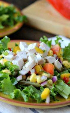 Citrusy, spicy and a little sweet this Gluten Free Dairy Free Chicken and Mango Salad Topper brings a fresh variety of textures and flavors to your lunchtime greens.