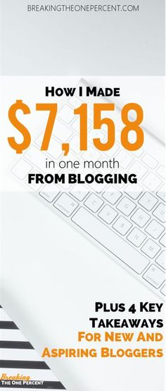 My first EVER blog income report. Learn how Im able to make money blogging, and how you can also make money online. Its not as hard as you probably think!