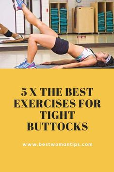5 x the best exercises for tight buttocks The sun starts to shine quietly again and we count down impatiently until the days when we can chill out again with the buttocks on a sun-drenched beach. Fitness Goals, Workout Fitness, Fitness Diet, Health Fitness, Lose Wight, Buttocks Workout, Fitness Tips For Women, At Home Workout Plan, Pregnancy Workout
