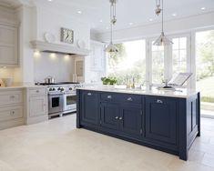 Beautiful blue kitchen cabinets