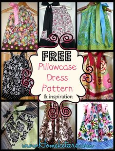 FREE Pillowcase Dress Pattern & Inspiration More I just love Pillowcase Dresses! On Babies and on Toddlers that is… I am not too sure my 16 year old or 19 year old would look nearly as cute as my 12 week old in one of these. Sewing Hacks, Sewing Tutorials, Sewing Crafts, Sewing Projects, Sewing Tips, Free Tutorials, Sewing Ideas, Sewing For Kids, Baby Sewing