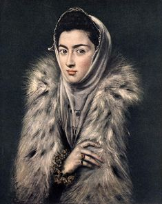 El Greco (1541-1614) Lady with a Fur Oil on canvas 1577-1580 51 x 62 cm (20.08 x 24.41)