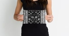 Black & White Rose Floral Panels