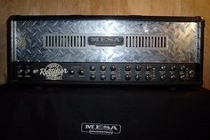 Mesa/Boogie 3 Channel Triple Rectifier Solo Head, front. FOR SALE by Matt.     Green Screen Entertainment|Your own Fun Business|A Business where everyone is happy