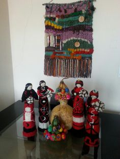 Muñecas de vellón Llaveros de vellón