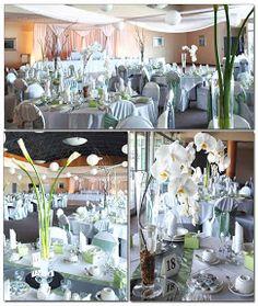 Centros de mesa muy elegantes para bodas color plata