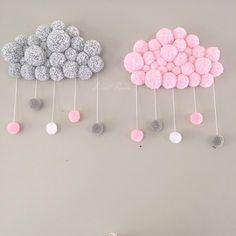 curtidas, 130 comentários – Fabiola Teles ( no Instagr… - Modern Baby Crafts, Fun Crafts, Diy And Crafts, Crafts For Kids, Pom Pom Rug, Pom Pom Crafts, Deco Floral, Baby Room Decor, Baby Rooms