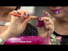 Alize Angora Gold Batik ile Yaprak Şal Yapımı - Knit a Leaf Shawl with Alize Angora Gold Batik - YouTube