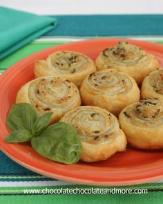 Pesto  and Cheese Puff Pastry Appetizers