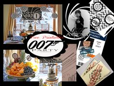 007 James Bond Party Free Templates for invites,finger prints, spy ID badge, Code Breaker Website and party ideas