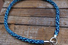 Blue Necklace Cord Rope Jewel Kumihimo by fanfarria on Etsy