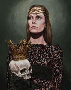 Crown of the Damned Kristin Forbes-Mullane 11x14 • 2015 • acrylic on wood