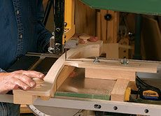 A Bandsaw Jig for Repeatable Complex Curves - Fine Woodworking Article