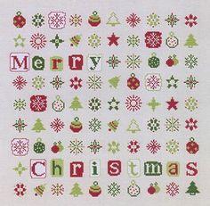 cross stitch pattern : Christmas stars lili points french counted cross stitch diy. $12.50, via Etsy.