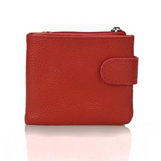 d3f3b9fc2ac2 100% Genuine Leather Women Mini Clutch Wallet Short Design Coin Pocket Coin Purse  Women Easy Carry Card Holder Wallet Money Bag