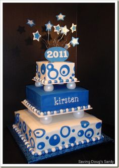 blue graduation cake cakes-and-cupcakes Fancy Cakes, Cute Cakes, Mini Cakes, Cupcake Cakes, Graduation Party Planning, Graduation Cake, Graduation Ideas, Graduation Decorations, Graduation 2015
