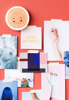 How to Make a Giant DIY Mood Board Organizer - painted plywood project | Paper n Stitch Blog