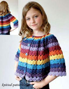 Crochet cardigan free pattern ༺✿ƬⱤღ  https://www.pinterest.com/teretegui/✿༻