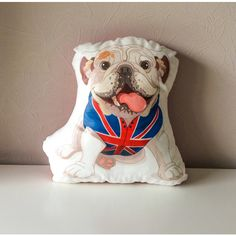English bulldog pillow animal pillow dog pillow от BeTheOriginal found on Polyvore