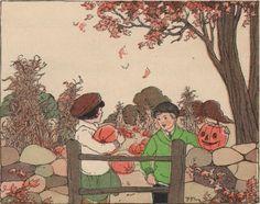 Halloween Owl & Pumpkins - The Graphics Fairy