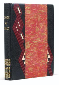 Gide, André VOYAGE AU CONGO. CARNETS DE ROUTE. PARIS, NRF, 1927.   BINDING:  PAUL BONET