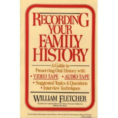 Wonderful Questions to Help Record a Wonderful Family History I <3 this book!!