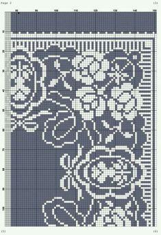 Cross Stitch Borders, Cross Stitch Flowers, Cross Stitching, Ribbon Embroidery, Cross Stitch Embroidery, Filet Crochet, Fabric Art, Monochrome, Needlework
