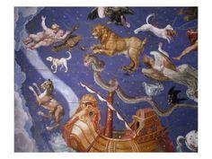 Ceiling from Sala del Mappamondo Fresco by G. De Vecchi and da Reggio