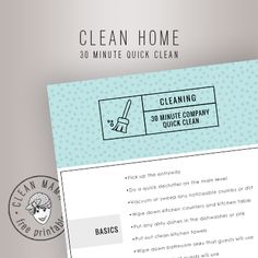 30 MIN QUICK CLEAN