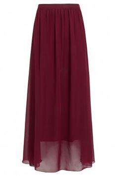 da72769f02 Burgundy Chiffon Maxi Skirt Burgundy Skirt