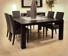Extended Families Enjoy Square Dining Table for 8: Square Dining Table For 8 Granita ~  Dining Room Inspiration
