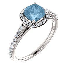 Platinum Sky Blue Topaz & 1/3 CTW Diamond Beautiful... only $800.00