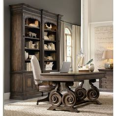 View our Rustic Writing Desk and Double Bookcase Small Office Set, and shop our wide selection of furniture to customize your office space. All products backed by our lifetime guarantee! Office Set, Small Office, Home Office Desks, Office Ideas, Rustic Writing Desk, Desk Inspiration, Luxury Office, Rustic Office, Business Furniture