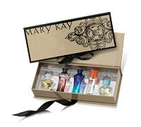 Limited-Edition Mary Kay® Miniature Fragrance Collection:   The set* includes five miniature eau de parfums: Journey®, Bella Belara®, Belara®, Velocity® and Thinking of You™ in a luxurious keepsake box with a vintage filigree pattern.