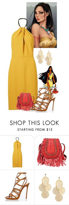 """""""Pocahontas"""" by fanfanfanfannnn ❤ liked on Polyvore featuring Disney, Andrea Marques and Dsquared2"""