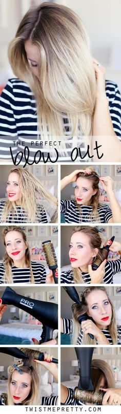 How to: Blow Dry your Hair with a Round Brush - Twist Me Pretty More