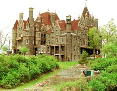 """The 120-room Boldt Castle, in Alexandria Bay, New York, sits in the 1000 Islands Region of the St. Lawrence River. It is a """"monument of love on Heart Island of George C. Boldt for his wife Louise,"""" the castle Web site reports. George halted construction on the castle in 1904 when his wife died of tuberculosis."""